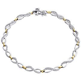 10K White & Yellow Gold 0.50ct Diamond Bracelet