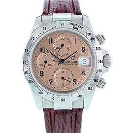 Tudor Prince Date Tiger 79280 Stainless Steel Automatic Chronograph 40mm Mens Watch