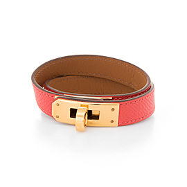 Hermes Kelly Double Tour Gold Tone Hardware and Leather Bracelet