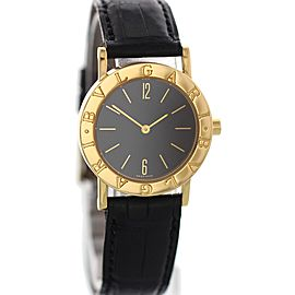 Bulgari BB 30 GL 18K Yellow Gold & Leather Quartz 30mm Womens Watch