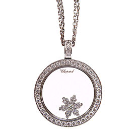 Chopard 18K White Gold with 0.57ctw Diamond Snowflake Pendant Necklace