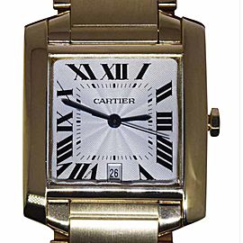 Cartier Tank Francaise 1840 18K Yellow Gold Automatic 28mm Mens Watch