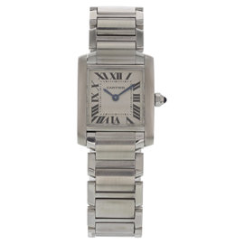 Cartier Tank Francaise 2384 Stainless Steel Quartz 25mm Womens Watch