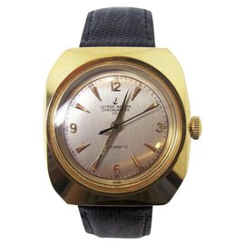 Ulysse Nardin Gold Plated and Leather Vintage Automatic 36.5mm Mens Watch