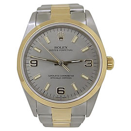 Rolex Oyster Perpetual 14203 Two Tone 18K Yellow Gold & Stainless Steel Automatic 34mm Unisex Watch