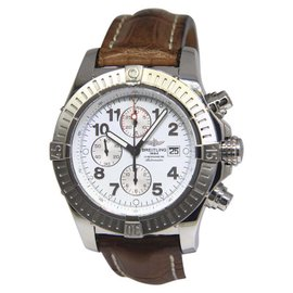 Breitling Super Avenger A13370 Stainless Steel Automatic 48.5mm Mens Watch