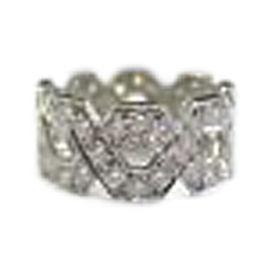 Tiffany & Co. PT950 Platinum with 1.20ctw. Diamond Hexagon Ring Size 4.5