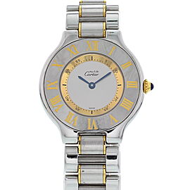 Cartier Must de 21 1330 Stainless Steel & 18K Yellow Gold Quartz 31mm Womens Watch
