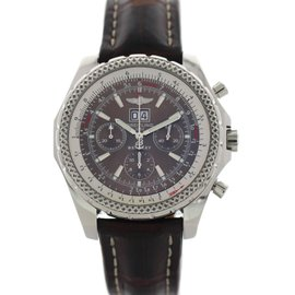 Breitling Bentley Motors A44362 Stainless Steel & Leather Automatic 48mm Mens Watch