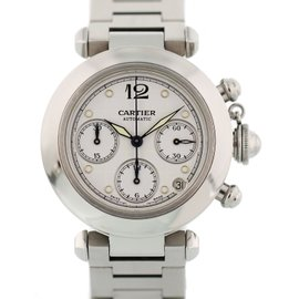 Cartier Pasha 2412 Stainless Steel White Dial Automatic 35mm Mens Watch