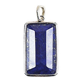 Ippolita Sterling Silver with Nuummite and Lapis Lazuli Blue Pendant