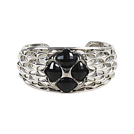 Tacori 925 Sterling Silver and 18K Gold with Black Onyx Cuff Bracelet