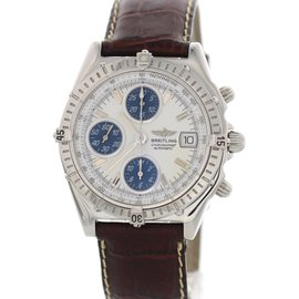 Breitling Chronomat A13050.1 Stainless Steel & Leather Automatic 39mm Mens Watch