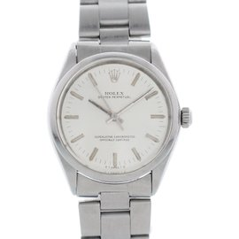 Rolex Oyster Perpetual 5500 Stainless Steel Vintage 34mm Mens Watch