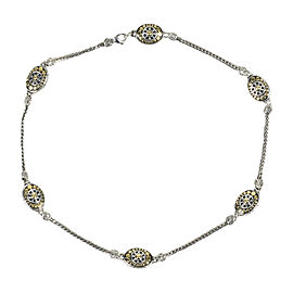 John Hardy Sterling Silver and 18K Yellow Gold Sautoir Necklace