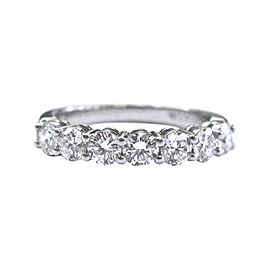 Tiffany & Co. Platinum with 0.91ct. Diamond Band Ring Size 5.5