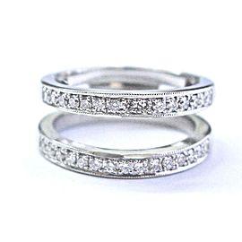 Simon G 900 Platinum with 0.30ctw Diamond Wedding Ring Size 5.5