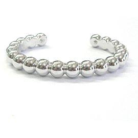 Van Cleef & Arpels Perlee 18K White Gold Cuff Bracelet