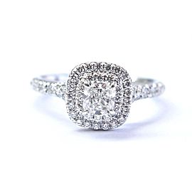 Tiffany & Co. PT950 Platinum with 0.64ctw Diamond Soleste Engagement Ring Size 5.25