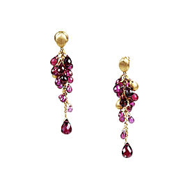 Marco Bicego Acapulco 18K Yellow Gold & Garnet Clustered Drop Earrings