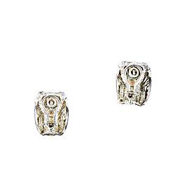 David Yurman Cable 14K Yellow Gold 925 Sterling Silver Earrings