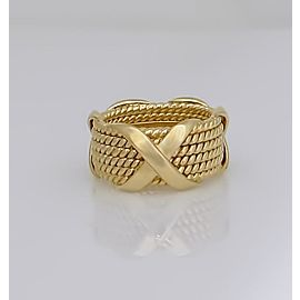 Tiffany & Co. 18K Yellow Gold Ring Size 6.75