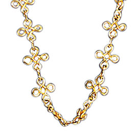Chanel CC Gold Tone Necklace