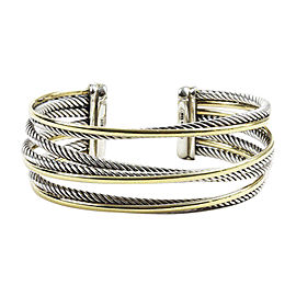 David Yurman Crossover 18K Yellow Gold and Sterling Silver Cuff Bracelet