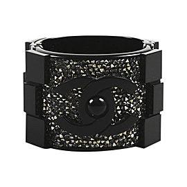 Chanel Acrylic and Crystal Boy Brick Cuff Bracelet