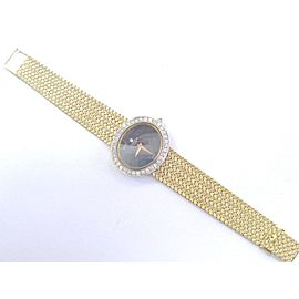18Kt Universal Geneve Lapis & Diamond Yellow Gold Watch 1.00Ct