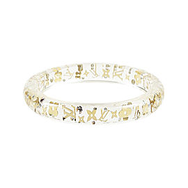 Louis Vuitton Inclusion Gold Tone Crystal Clear Bracelet