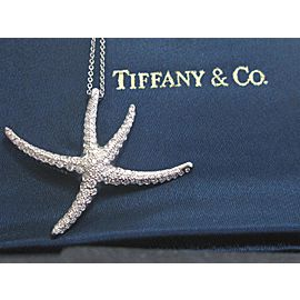 Tiffany & Co. Platinum Diamond Starfish Pendant Necklace