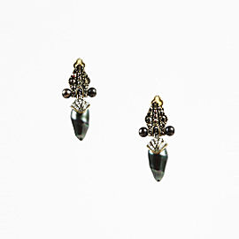 Lanvin Marcasite Pearl Earrings