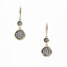 Adamas 14K Yellow Gold with Diamond Circle Drop Earrings