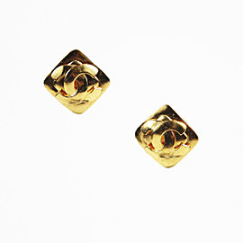 Chanel Gold Tone Hardware 'CC' Earrings