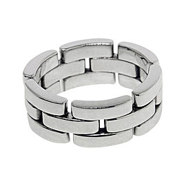Cartier Panthere Ring 18K White Gold Size 6.25