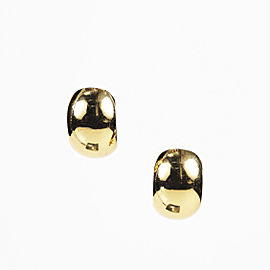 Christian Dior Gold Tone Hardware Clip On Earrings