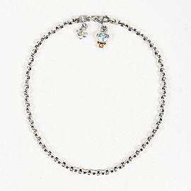 Judith Ripka 18K Yellow Gold, Sterling Silver Topaz, Diamond Necklace
