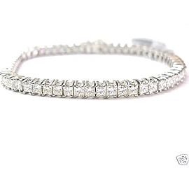 18k White Gold Princess Cut Diamond Tennis Bracelet