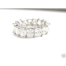 18K White Gold Eternity Diamond Ring Size 6.5