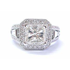 18K White Gold Diamond Engagement Ring Size 5.25