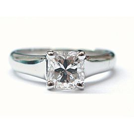 Tiffany & Co. Lucida Platinum Diamond Engagement Ring Size 5