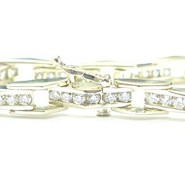 14K Yellow GoldRound Cut Diamond Tennis Bracelet