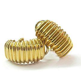 Tiffany & Co. 18K Yellow Gold Huggie Earrings