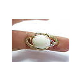 Fine 18Kt NATURAL Coral & Diamond Yellow Gold Jewelry Ring 8.60CT