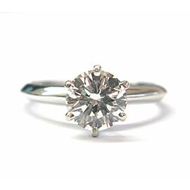 Tiffany & Co Platinum Round Diamond Solitaire Engagement Ring 1.19CT H-VS1