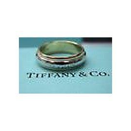 Tiffany & Co Platinum & 18Kt Milgrain 6mm Wedding Band Size 9