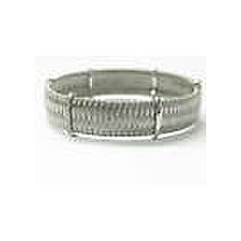 Roberto Coin 18Kt Silk Weave White Gold Diamond Bracelet .40Ct