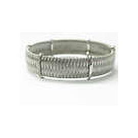 Roberto Coin 18Kt Silk Weave White Gold Diamond Bracelet .40Ct