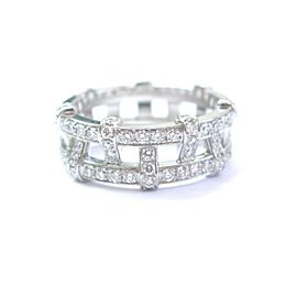 Tiffany & Co Platinum Weave Diamond Band Ring 1.40Ct Size 8